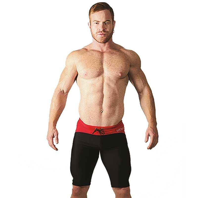 MISTER B SHORTS hot URBAN MALLORCA Radler MB-820800 Athletic Wear black-red