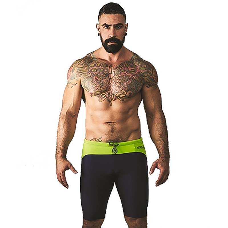 MISTER B SHORTS hot URBAN MALLORCA Radler MB-820810 Athletic Wear navy-neon green