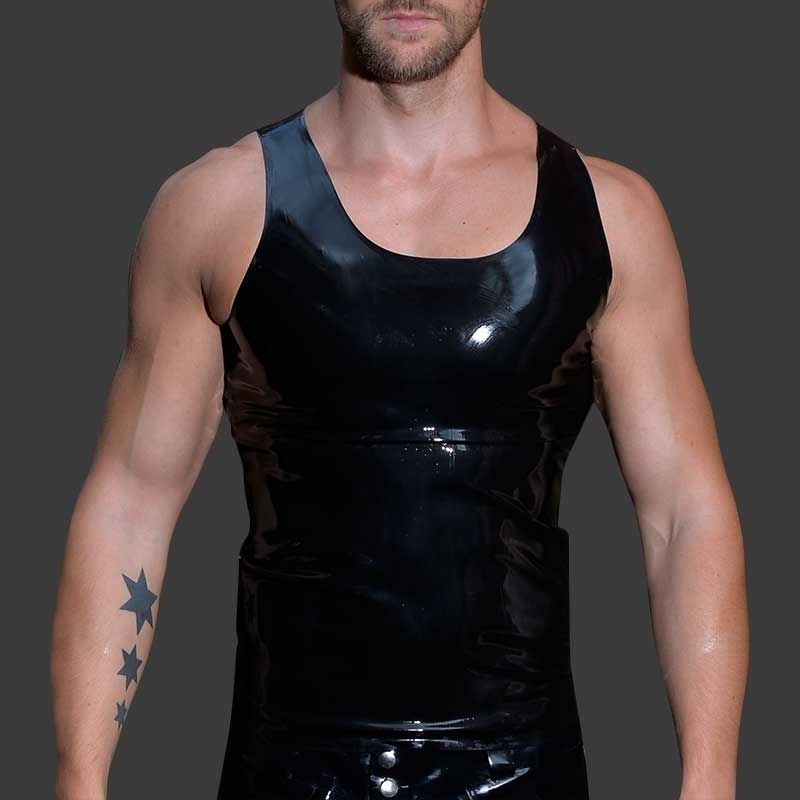 MISTER B GUMMI TANK TOP hot AERMELLOS FETISCH FRITZ Latex MB-300300 Club Wear black