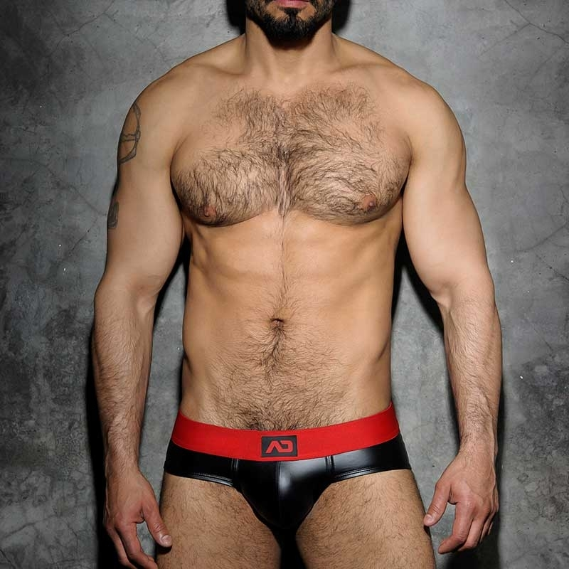 ADDICTED SLIP hot FETISCH JOSH Wet Look ADF48 Club Wear black-red