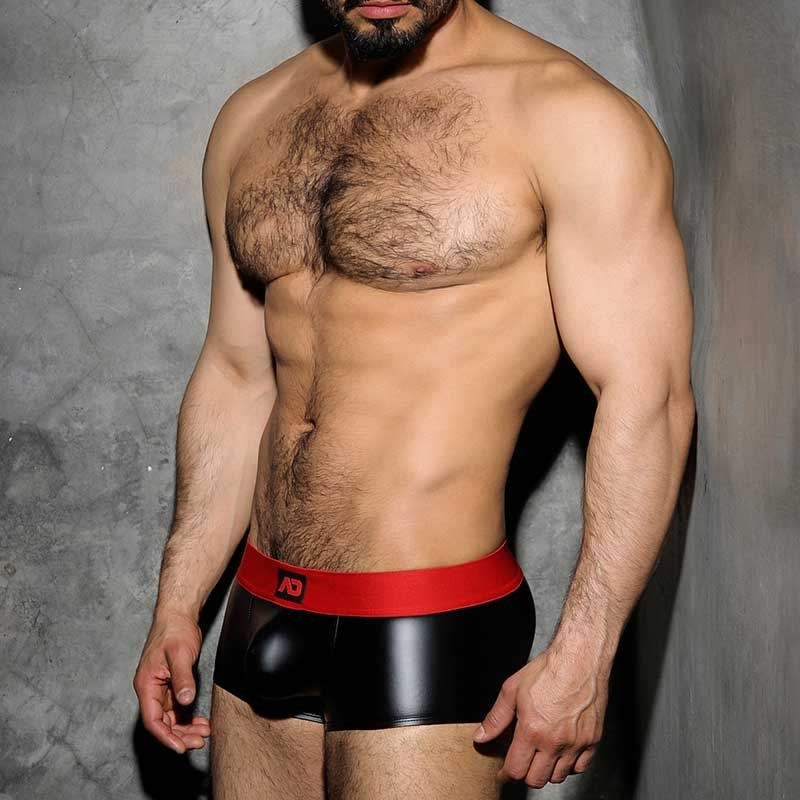 ADDICTED PANT hot FETISCH JOSH Wet Look ADF49 Club Wear black-red