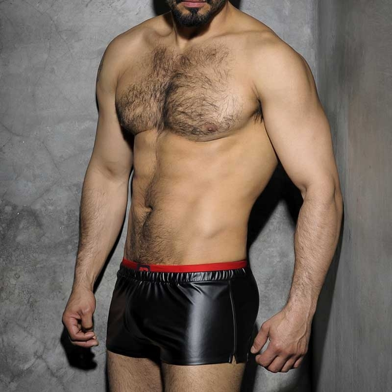 AD-FETISH wet SHORTS ADF50 gym boxer look red