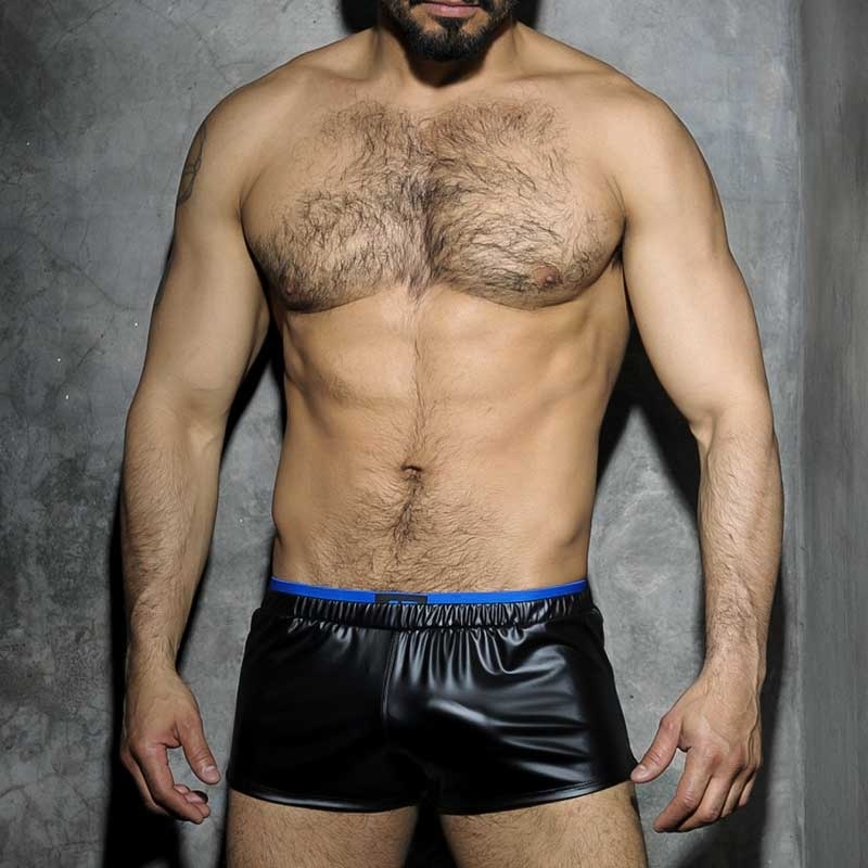 ADDICTED SHORT hot FETISCH JOSH Wet Look ADF50 Club Wear black-royal
