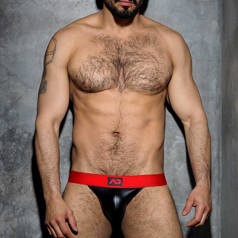 ADDICTED JOCK hot FETISCH JOSH Wet Look ADF51 Club Wear black-red
