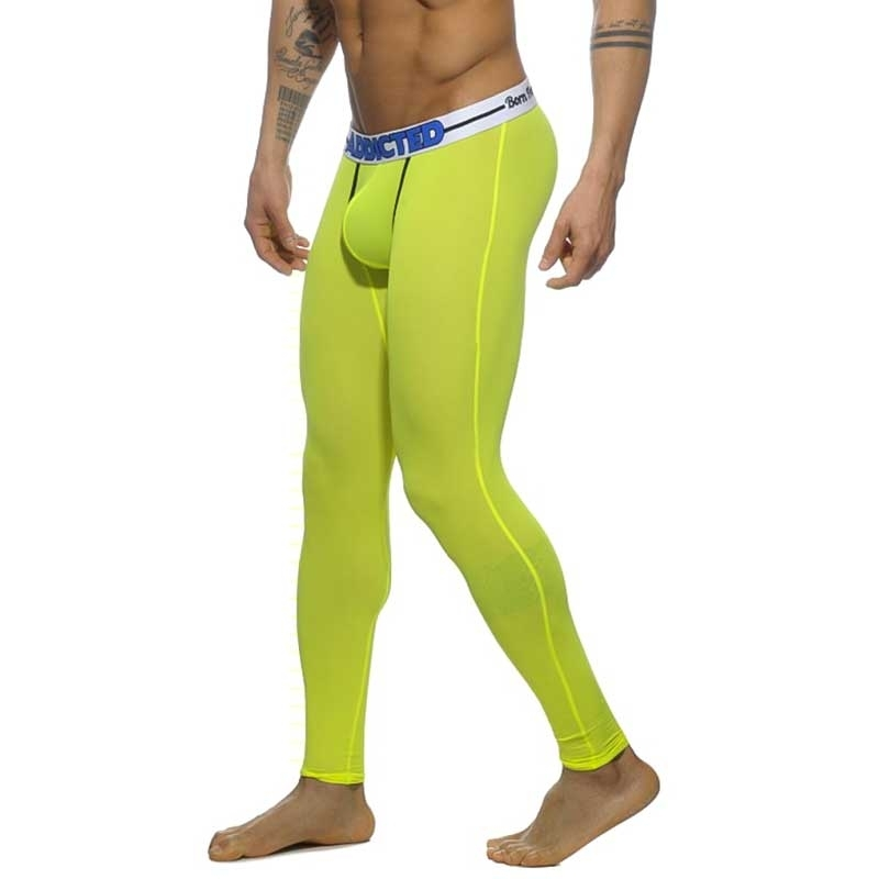 ADDICTED LEGGINGS mesh AD538 Born Free Neon green