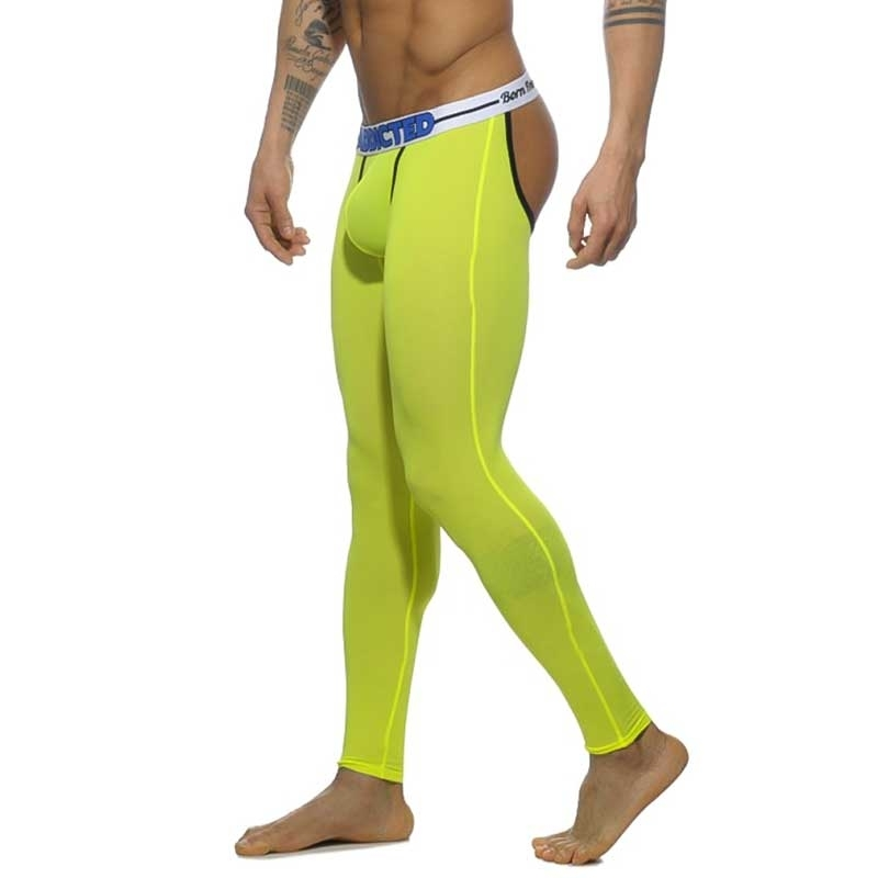 ADDICTED LEGGINGS AD539 backless neon