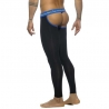 ADDICTED LEGGINGS modern BACKLESS LONG JOHN Sport AD539 Club Wear black