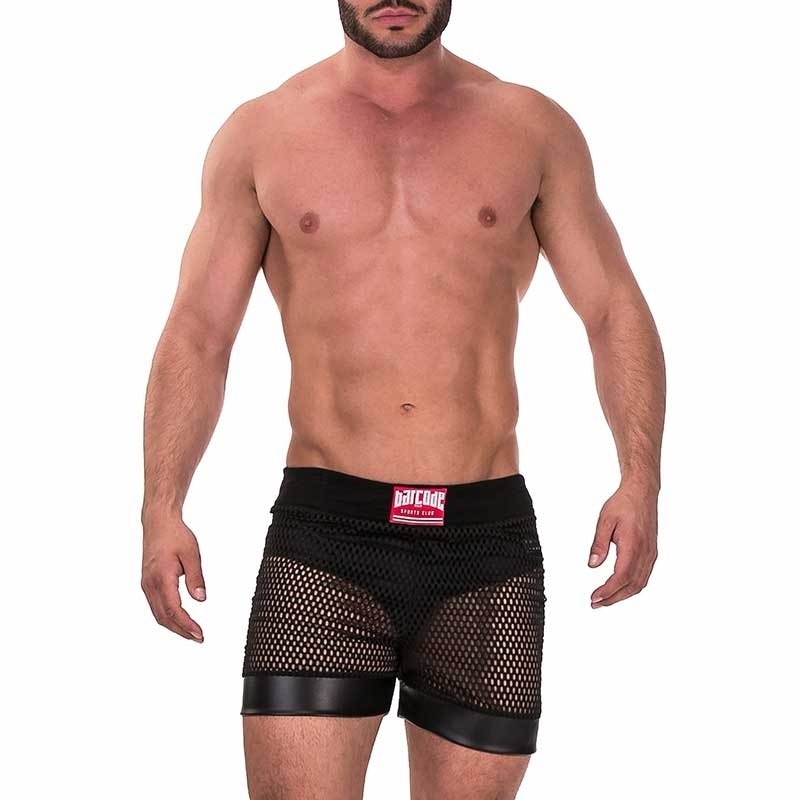 BARCODE Berlin SHORT hot MESH DANAO Wet Look 91374 Fetish Wear black