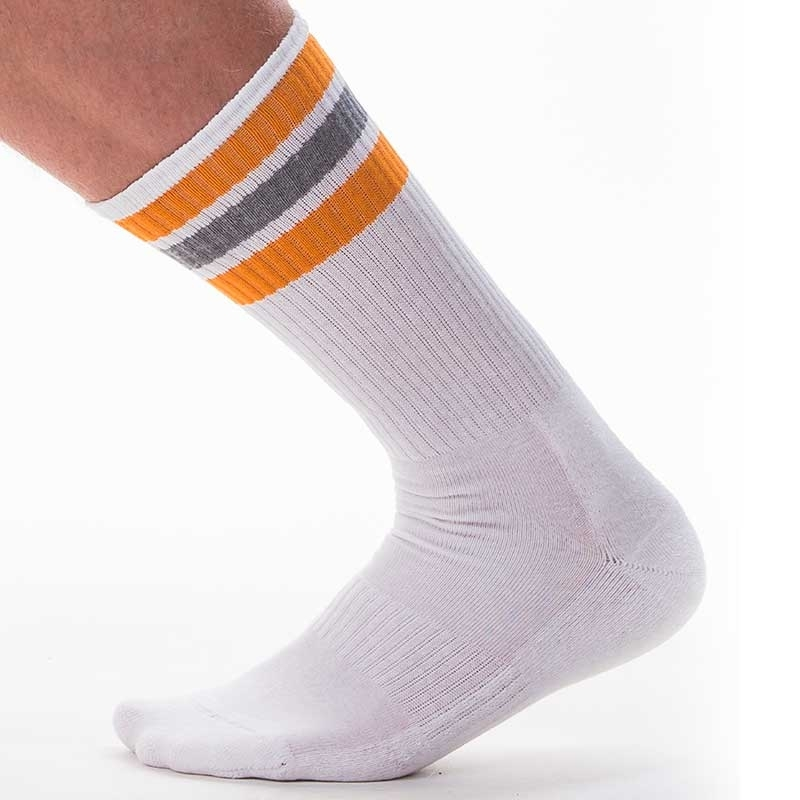 BARCODE Berlin SOCKS comfort ME-TIME Sport 91367 Streetwear white-orange-grey