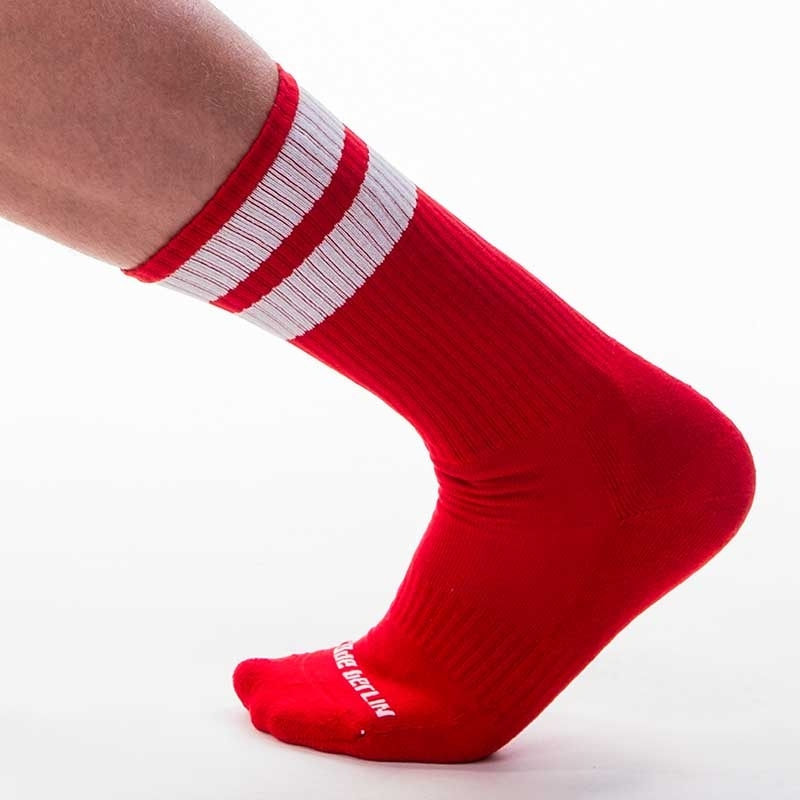 BARCODE Berlin SOCKS comfort GYM SOCKS Jogging 91366 Street Wear red-white