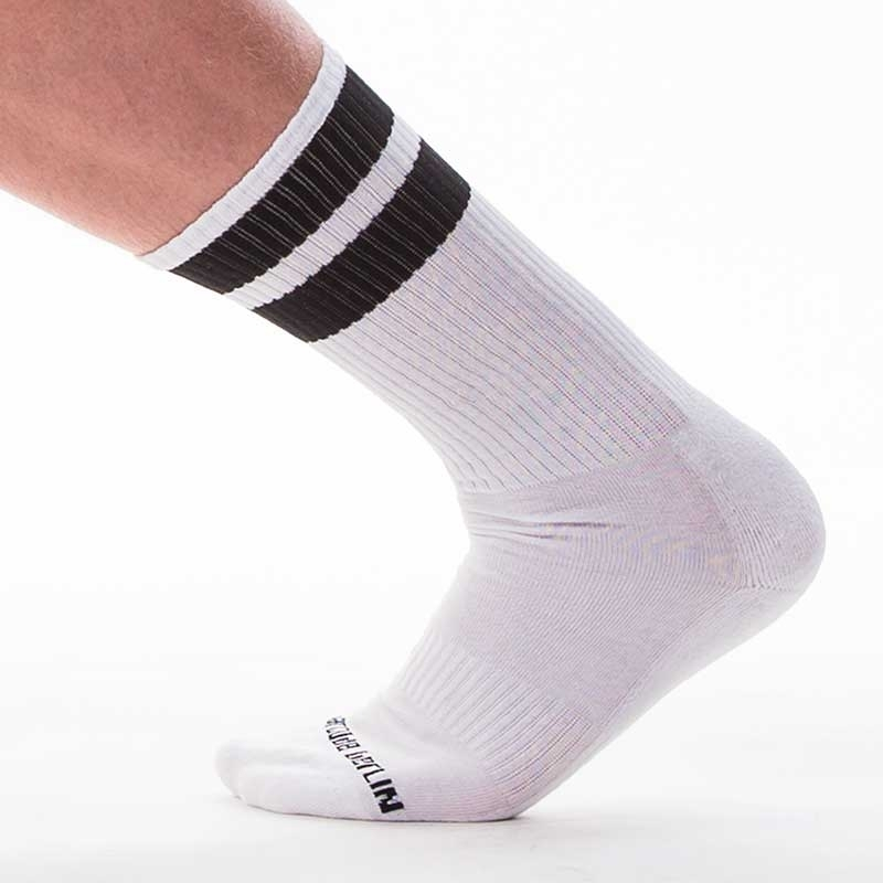 BARCODE Berlin STOCKING gym comfort 91366 Street Wear socks white-black