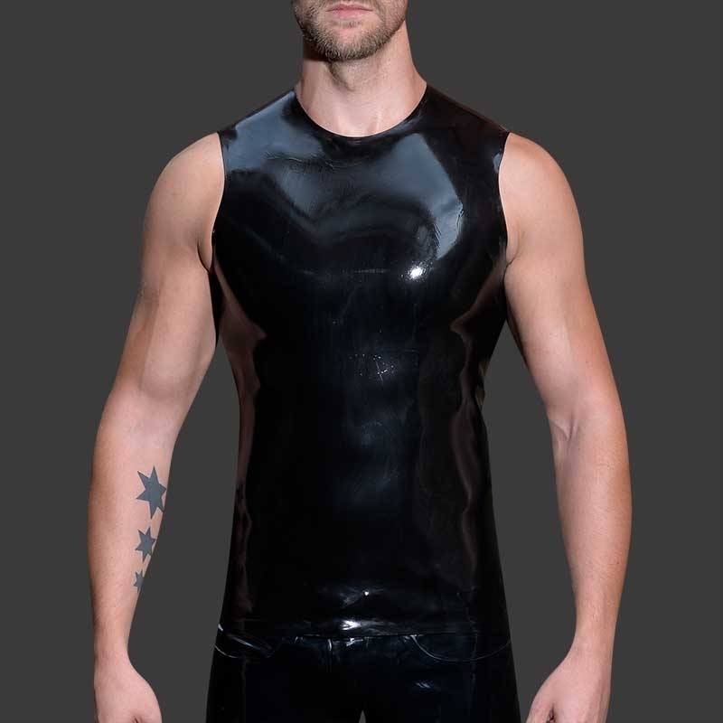 MISTER B GUMMI TANK TOP hot AERMELLOS FETISCH EDEN Latex MBL-300600 Club Wear black