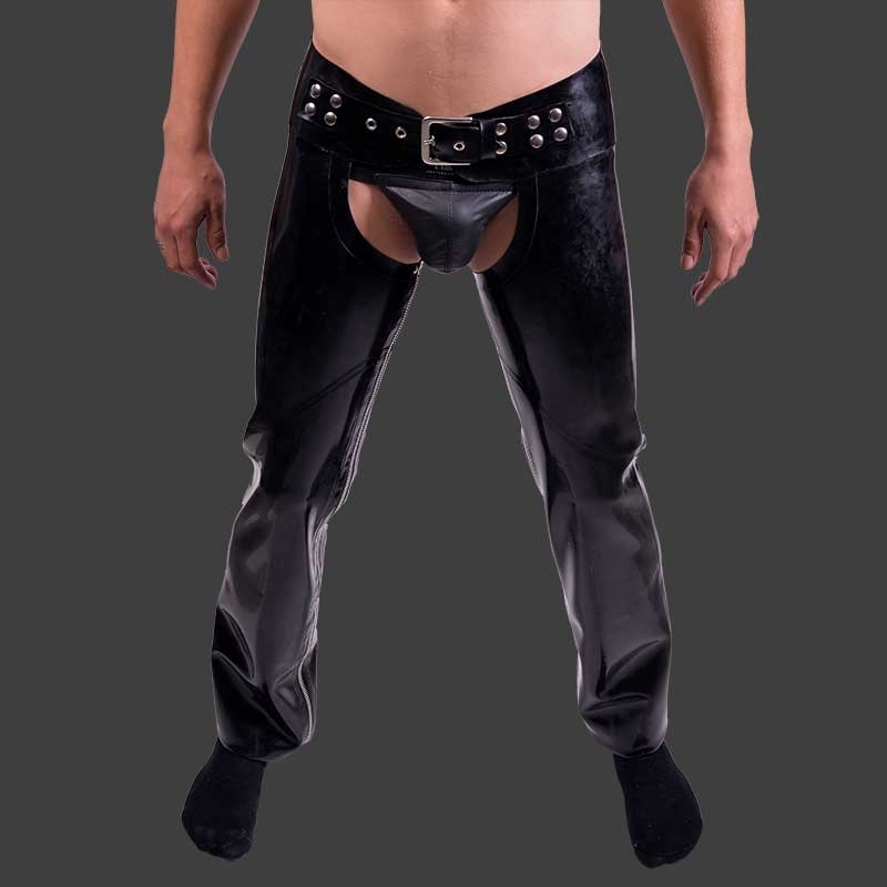 MISTER B RUBBER CHAPS Latex TOM OF FINLAND Fetish MBR-313300 Club Wear black