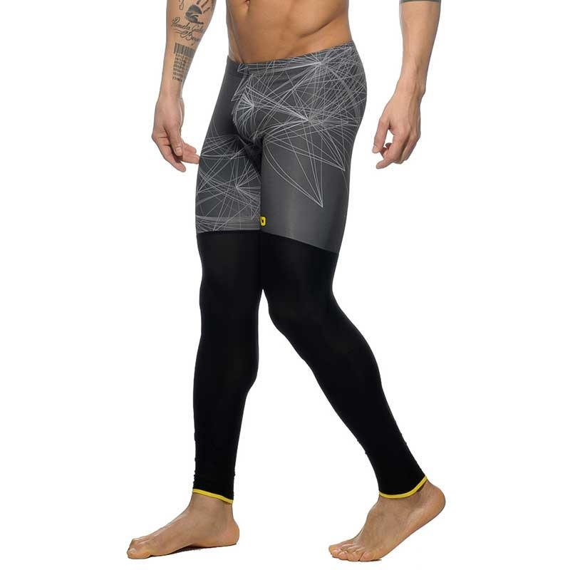 ADDICTED LEGGINGS modern ABSTRACT SPORT DEXTER Designer AD559 Mainstream grey-black