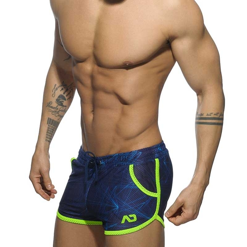 ADDICTED SHORT AD577 athletic neon mesh