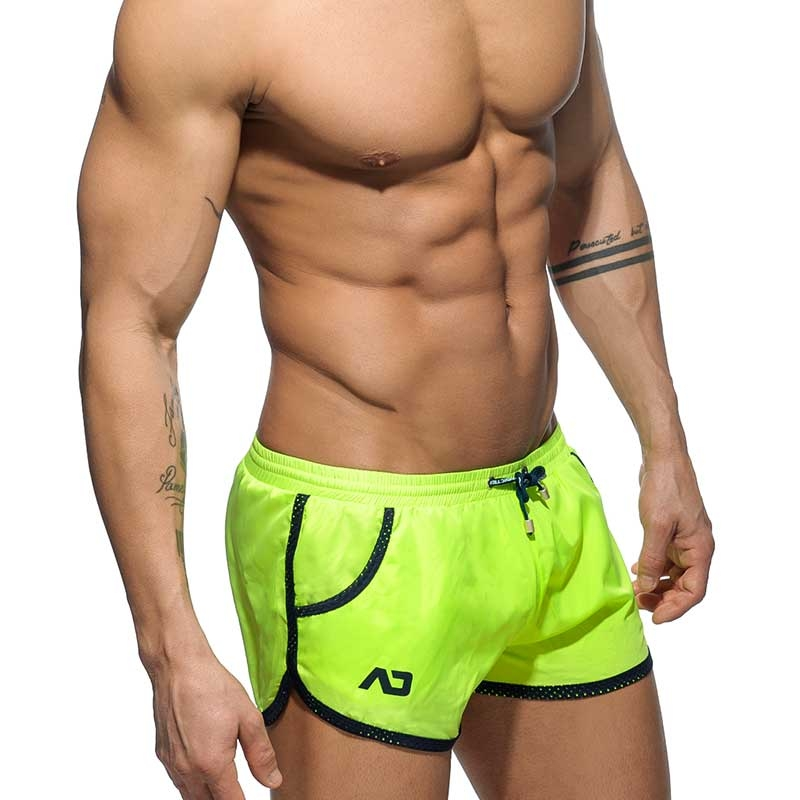 db0c6f44fa ADDICTED neon green beach shorts for bathing   play to drink at the ...