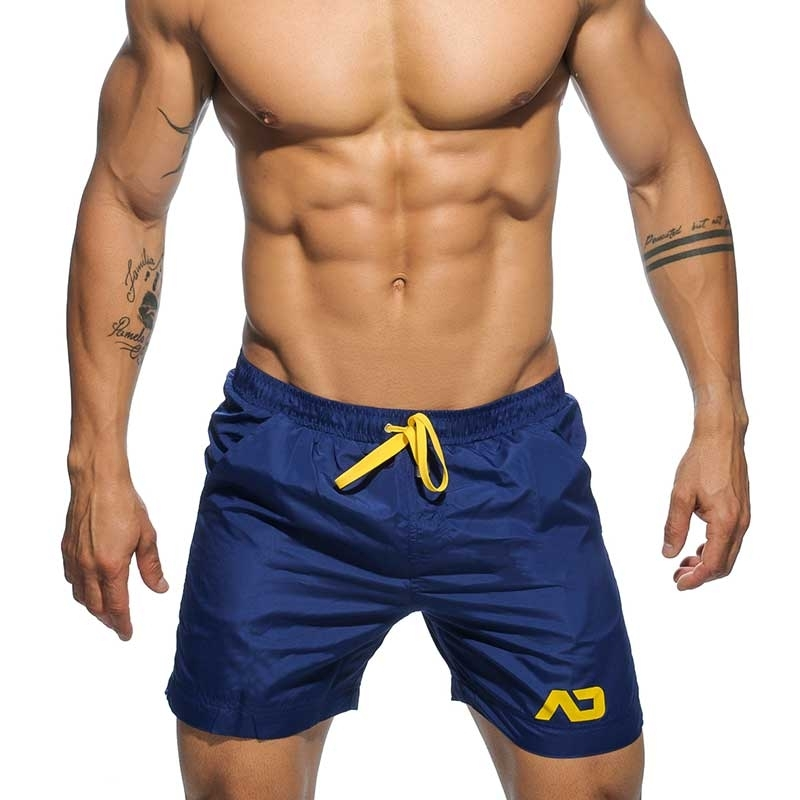 ADDICTED SWIM TRUNK ADS073 board shorts style in dark blue