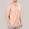 RED BRIDGE T-SHIRT modern DESIGNER USED JARED Löcher M1130 Mainstream salmon