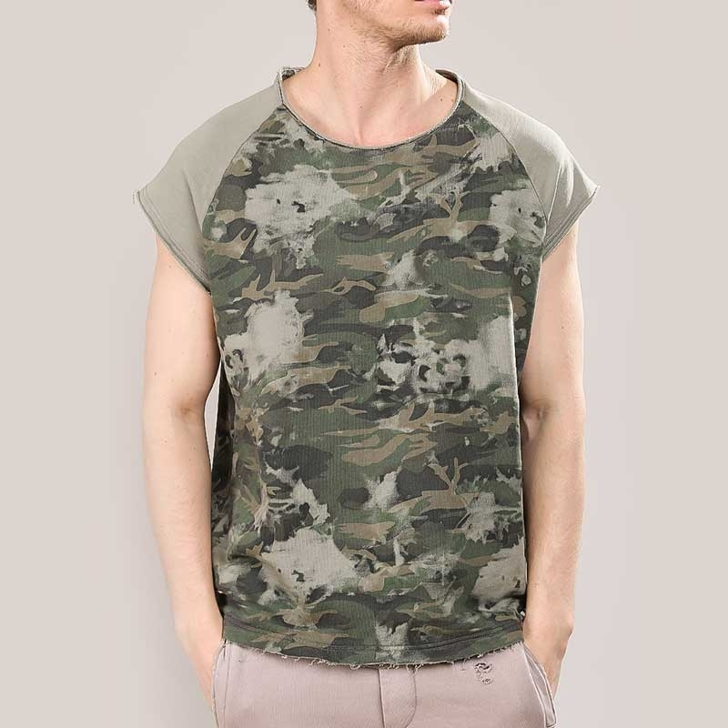 RED BRIDGE T-SHIRT comfort ARMY MANN HUGO Camouflage M1134 Used Look olive