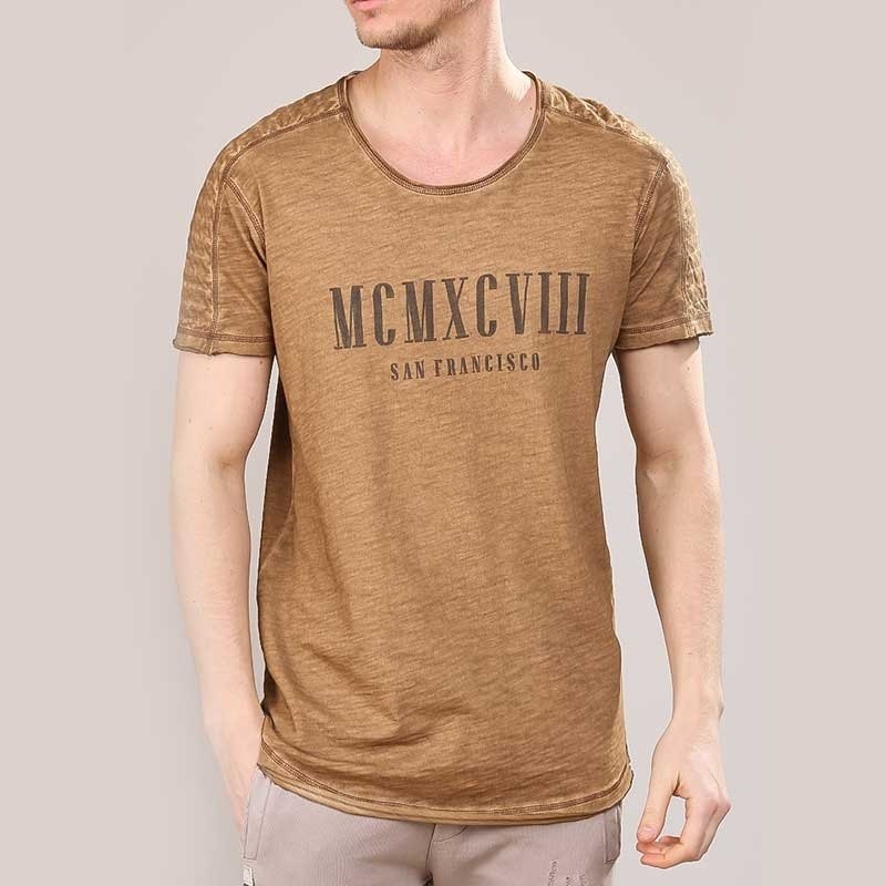RED BRIDGE T-SHIRT regular VINTAGE SAN FRANCISCO Druck M1150 Mainstream light brown