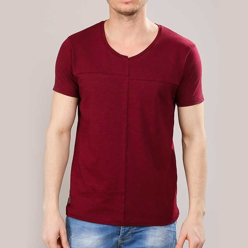 RED BRIDGE T-SHIRT modern DESIGNER HAYDEN Alltag M1161 Mainstream bordeaux