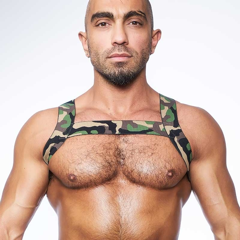 MISTER B HARNESS hot CAMOUFLAGE X-BACK Urban MBS-820542 Fetisch Wear green