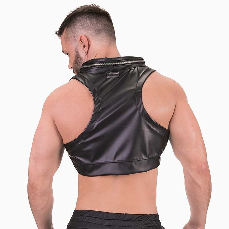BARCODE Berlin TANK TOP hot HARNESS KARMI Wet-Look 91371 Fetisch Wear black