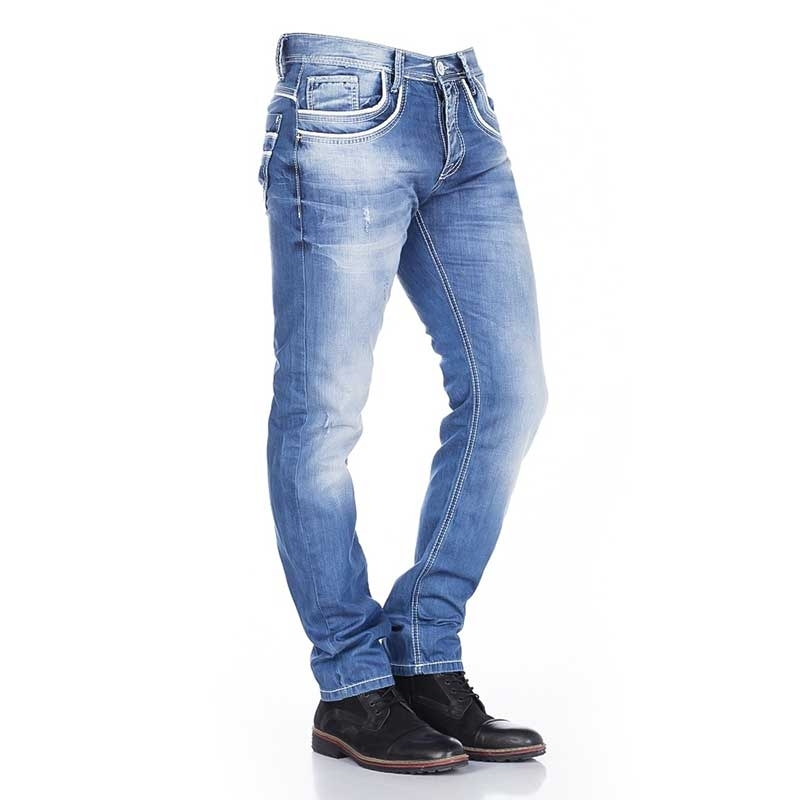 CIPO and BAXX JEANS PANTS C1127 classic blue jeans