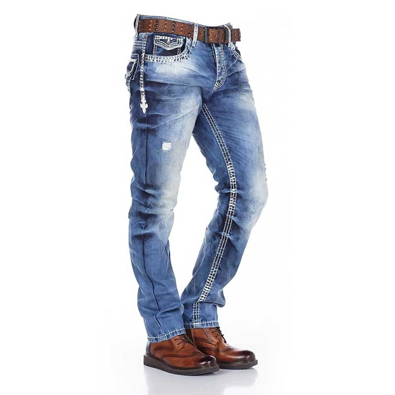 CIPO and BAXX  JEANS CD149 with Union Jack design