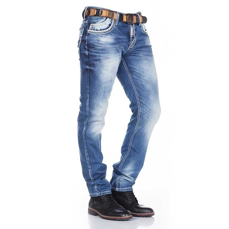 CIPO and BAXX  JEANS CD184 with decorative stitching