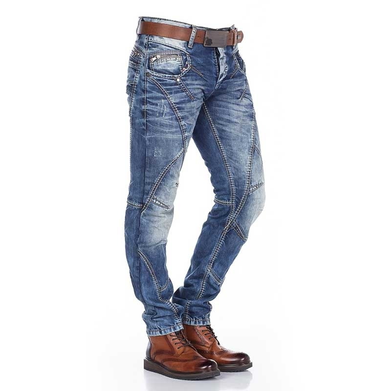 CIPO and BAXX  JEANS C-0894 with special stitching