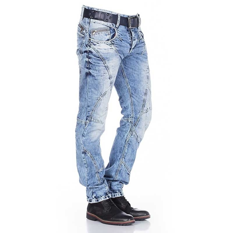 CIPO and BAXX  JEANS C-0894A faded denim style