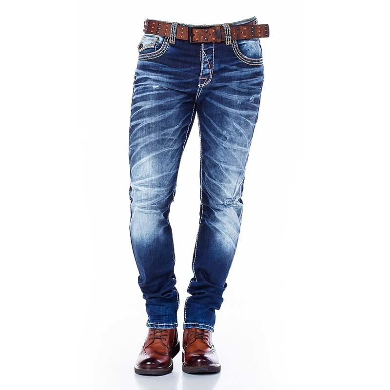 CIPO and BAXX  JEANSHOSE CD305 Faltig Look Stoff