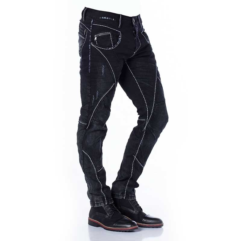 CIPO and BAXX JEANS CD288 color contrast stitching