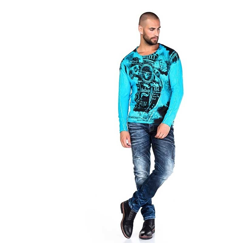 Cipo /& Baxx Faded Effect Slim fit Shirt Winter Collection Men