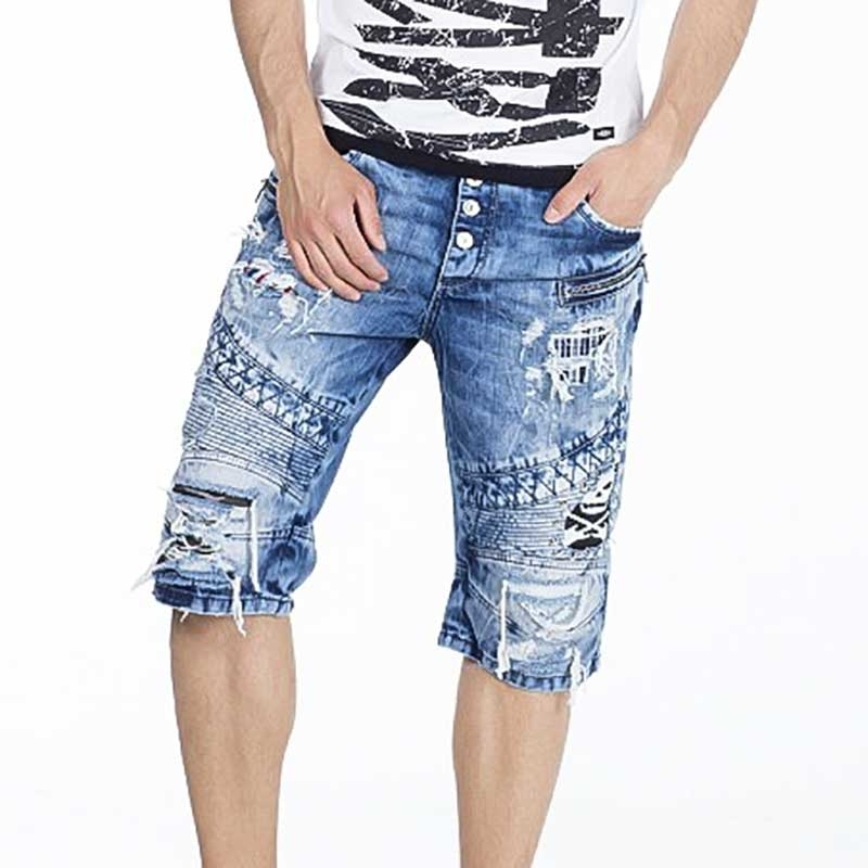 CIPO and BAXX CAPRI- JEANS regular fit DESTROYED TAREK Denim CK152 Street Wear bluejeans