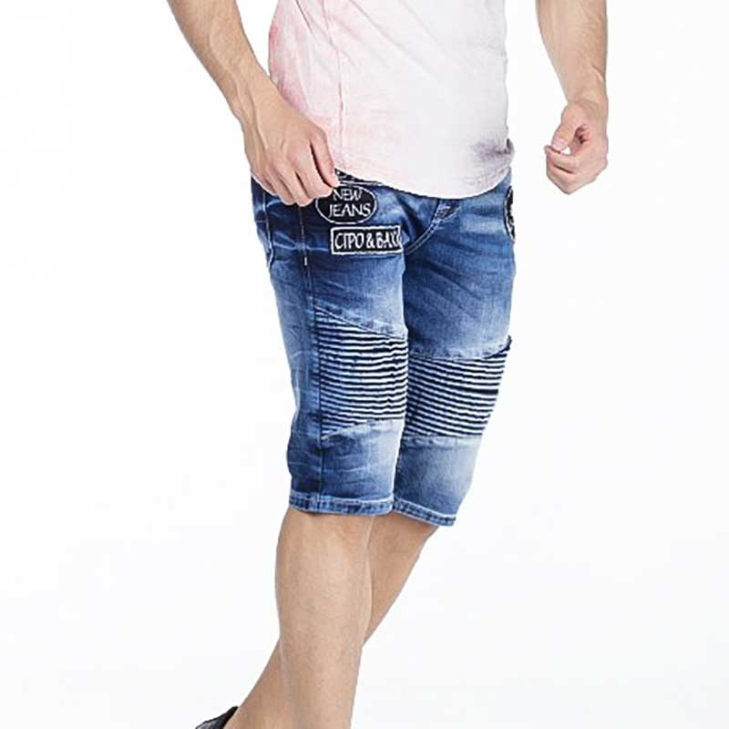 CIPO and BAXX CAPRI- JEANS CK157 with ribbed fabric