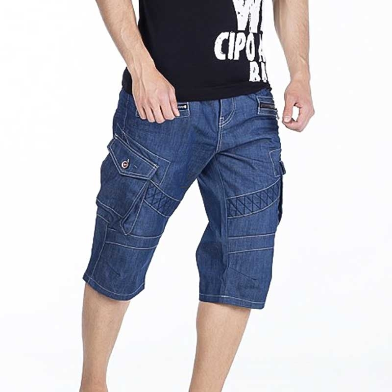 CIPO and BAXX Jeans SHORTS CK159 vintage Denim