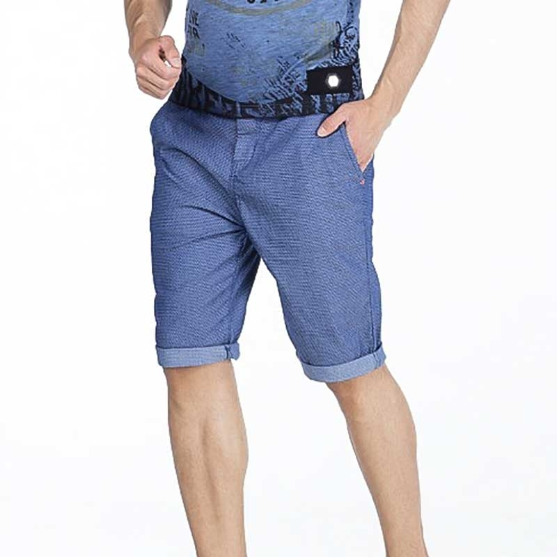 CIPO and BAXX CAPRI- SHORTS regular fit RONNIE Gemustert CK160 Street Wear blue