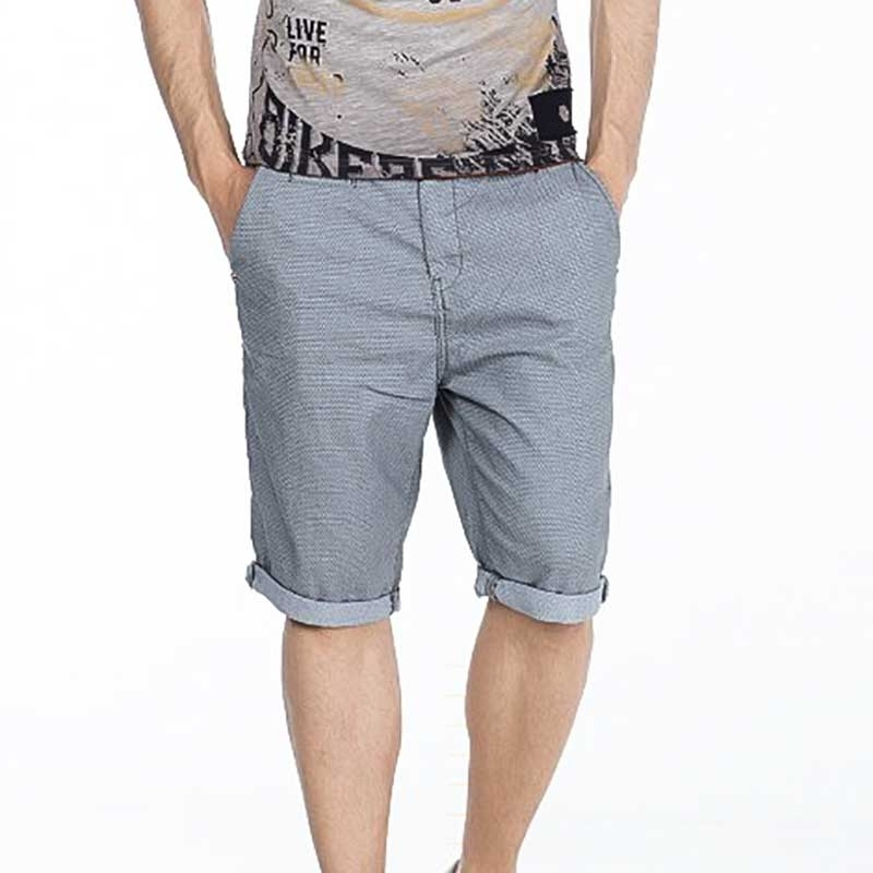 CIPO and BAXX CAPRI- SHORTS regular fit RONNIE Gemustert CK160 Street Wear grey