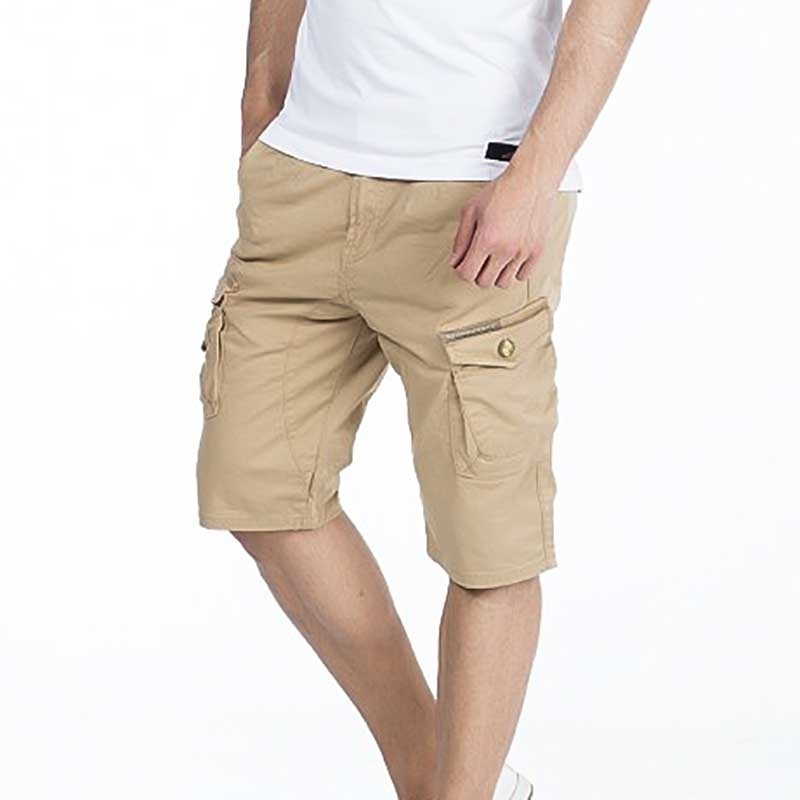 CIPO and BAXX CAPRI- SHORTS comfort fit 6-POCKET RA Cargo CK161 Mainstream khaki brown