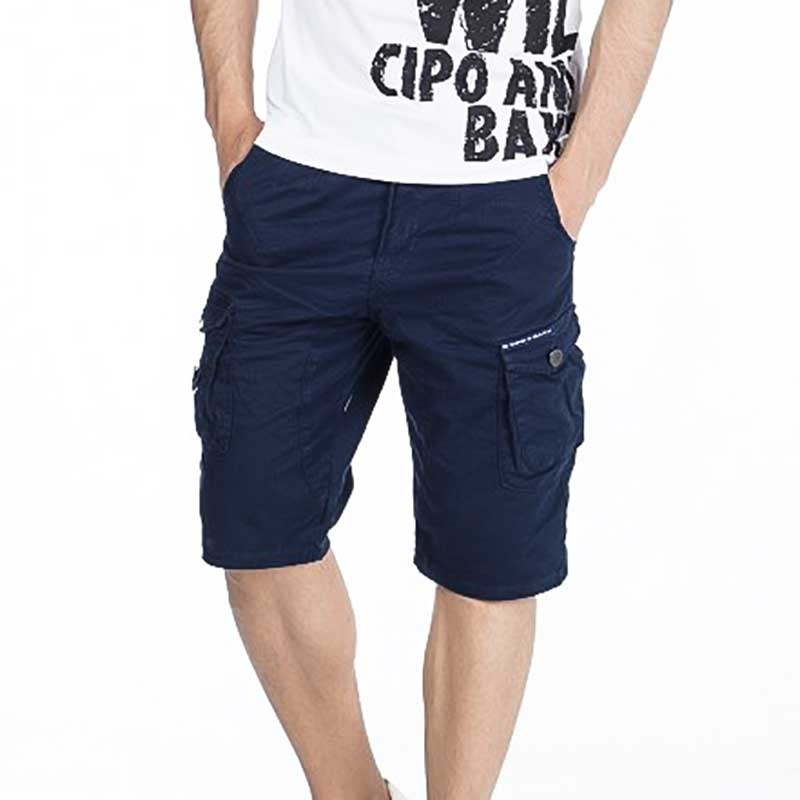 CIPO and BAXX CAPRI- SHORTS comfort fit 6-POCKET RA Cargo CK161 Mainstream navy