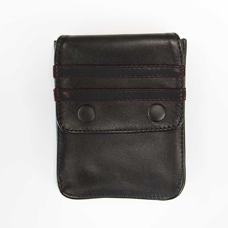 MISTER B ACCESSORIES hot LEATHER WALLET NORTON Pocket MBL-601311 Club Wear black