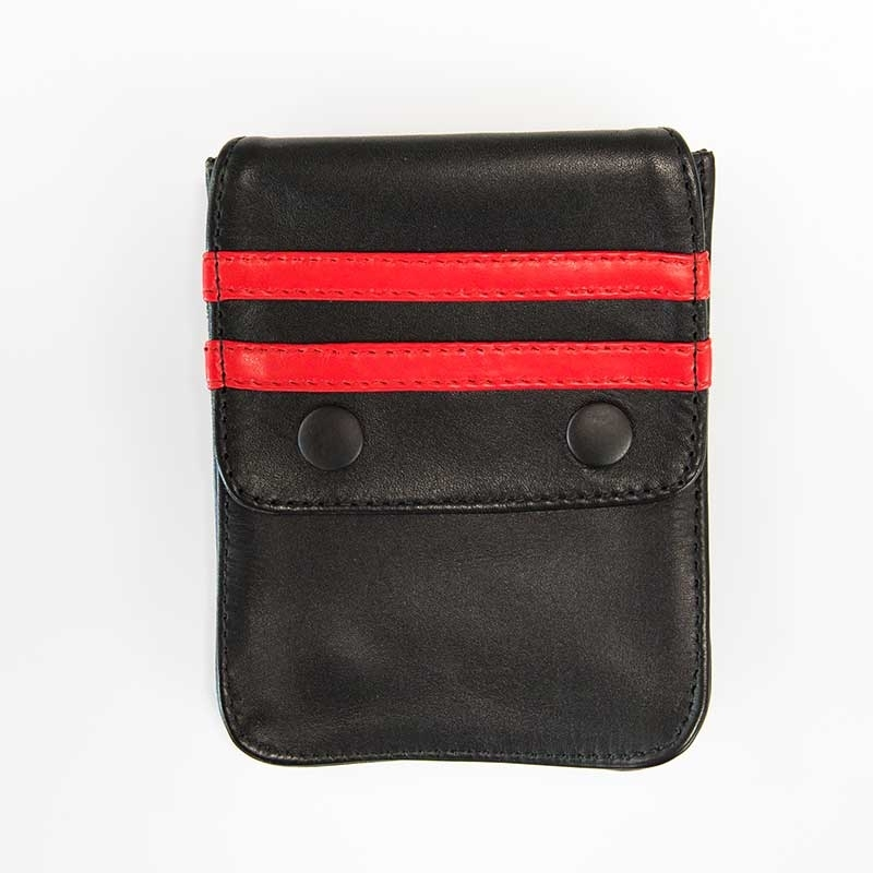 MISTER B ACCESSORIES hot LEATHER WALLET NORTON Pocket MBL-601314 Club Wear black-red
