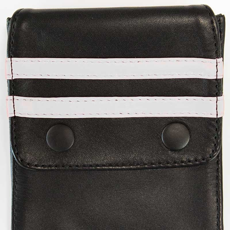 MISTER B ACCESSORIES hot LEATHER WALLET NORTON Pocket MBL-601315 Club Wear black-white