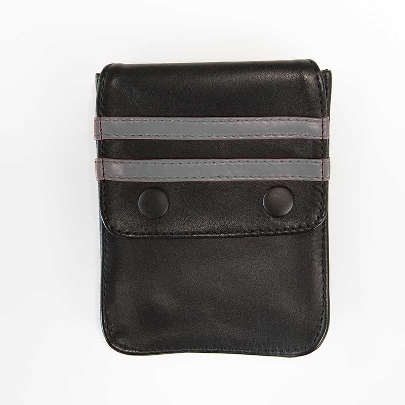 MISTER B ACCESSORIES hot LEATHER WALLET NORTON Pocket MBL-601316 Club Wear black-grey