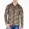 CIPO and BAXX HEMD regular CAMOUFLAGE PAXTON Army CH130 Mainstream brown