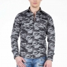 CIPO and BAXX HEMD regular CAMOUFLAGE PAXTON Army CH130 Mainstream grey