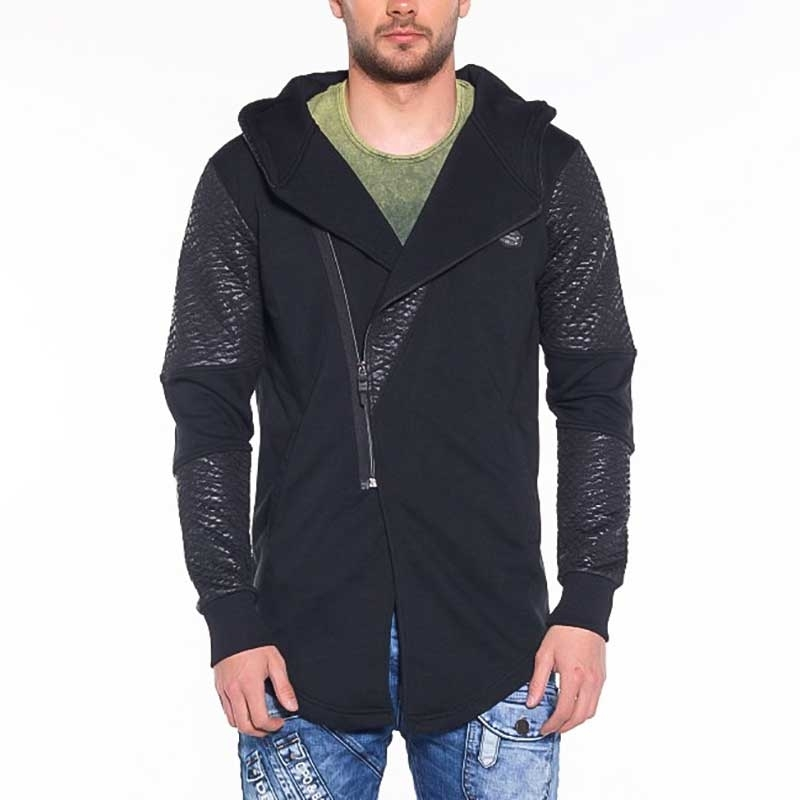CIPO and BAXX STRICKJACKE modern WET ZIPP SIMON Kapuze CL225 Mainstream black