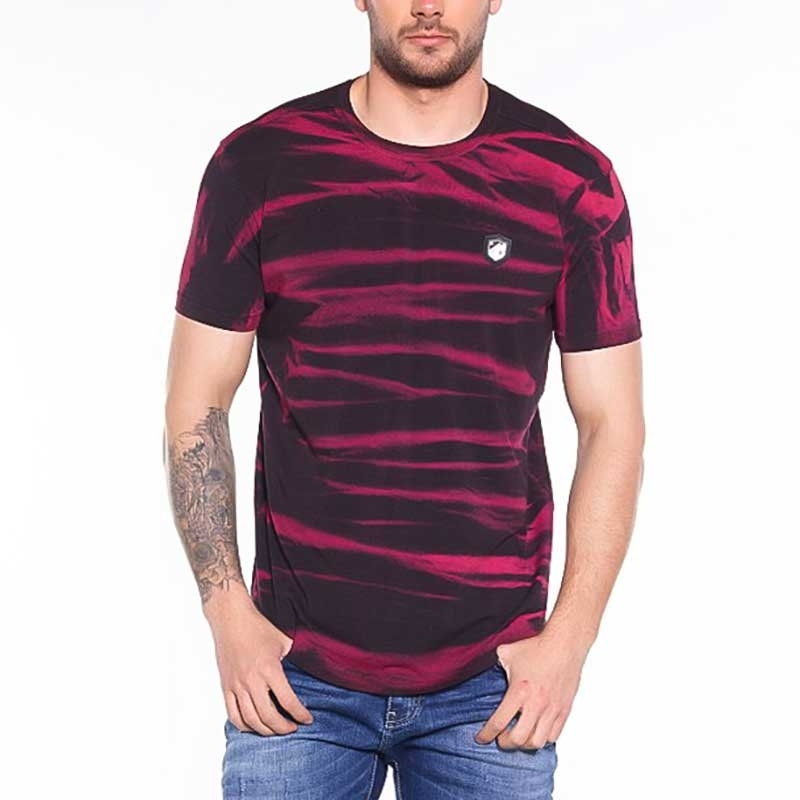 CIPO and BAXX T-SHIRT regular SHELDON Gemustert CT305 Streetwear burgundy